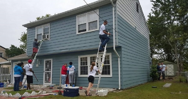 If you're looking for ways to pay for home improvements, a VA-backed supplemental loan may help. Here, soldiers do some work free of charge as part of volunteer efforts with a Virginia-based Habitat for Humanity chapter. (Loran Doane/Army)