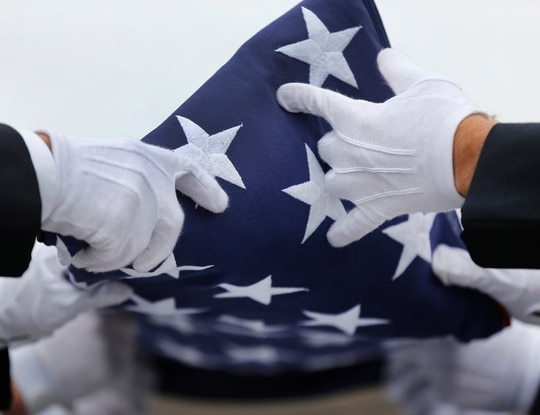 North Dakota Army National Guardsman Master Sgt. Robert Thomas Lawson died Nov. 24. (Paul Sancya/AP)