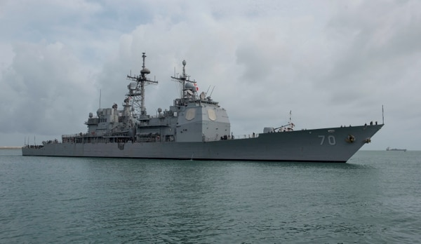 The Ticonderoga-class guided-missile cruiser Lake Erie arrived in Colombo, Sri Lanka, on June 11, 2017. (Mass Communication Specialist 2nd Class Joshua Fulton/Navy)