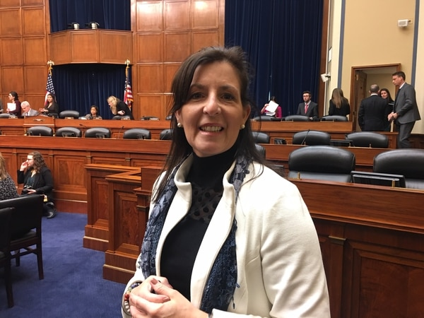 Hope Martindell Grosse grew up in Warminster, Pa., near Warminster's Naval Air Warfare Center; her house was by the firefighter training area. Her father died of cancer at age 52. Three months after burying him, Grosse was diagnosed with cancer. She was 25 at the time. Grosse and several other military families came to Congress Wednesday as the Hill begins to deal with widespread water contamination in military communities. (Tara Copp/Military Times)
