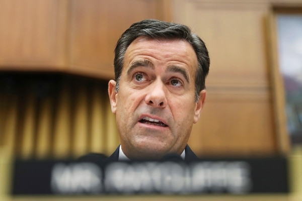 In this July 24, 2019, file photo, Rep. John Ratcliffe, R-Texas, questions former special counsel Robert Mueller as he testifies before the House Intelligence Committee hearing on his report on Russian election interference, on Capitol Hill in Washington. (Andrew Harnik/AP)
