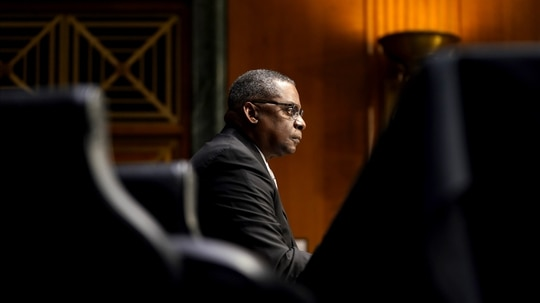 WASHINGTON, DC - JANUARY 19: President-elect Joe Biden's nominee for Secretary of Defense, retired Army Gen. Lloyd Austin testifies at his confirmation hearing before the Senate Armed Services Committee at the U.S. Capitol on January 19, 2021 in Washington, DC. Previously Gen. Austin was the commanding officer of the U.S. Central Command in the Obama administration. (Photo by Greg Nash-Pool/Getty Images)
