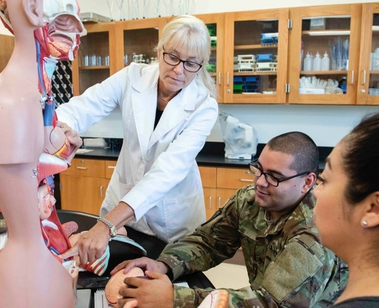 Active-duty and veteran students make up nearly 8 percent of the student population at Georgia Southern University, the No. 1-ranked school on our list. (Katherine Artzen/Georgia Southern University)