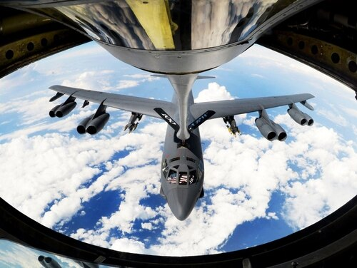 A planned exercise involving U.S. B-52 Stratofortresses and South Korean aircraft was reportedly cancelled due to South Korea's desire not to escalate tensions ahead of the planned June 12 summit, the Wall Street Journal reported. (Senior Airman Tenley Long/Air Force)