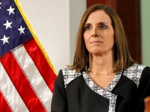 The military creates an environment that can lead to sexual assault, Sen. Martha McSally, R-Ariz., said at a leaders' event focused on preventing sexual misconduct. Here, the former Air Force pilot is shown in December. (Matt York/AP)