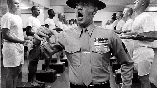 Actor R. Lee Ermey, portraying