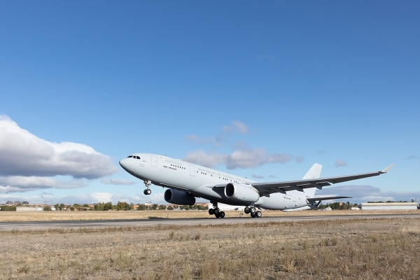 The first Airbus A330 MRTT for the South Korean Air Force lands in South Korea for its acceptance tests. (Airbus Defence and Space)