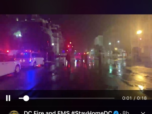 Two members of the South Carolina National Guard were taken to the hospital after being near a lighning strike while on duty in Washington, D.C.