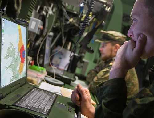 The NATO Communications and Information Agency has developed a software-based tool that can estimate the area where an interfering signal would degrade or deny global navigation satellite systems. (NATO)