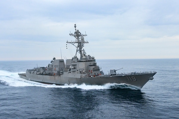 The Arleigh Burke-class destroyer Delbert Black spent more than three days in the Gulf of Mexico testing its main propulsion, combat and other ship systems. (Lance Davis/Huntington Ingalls Industries)