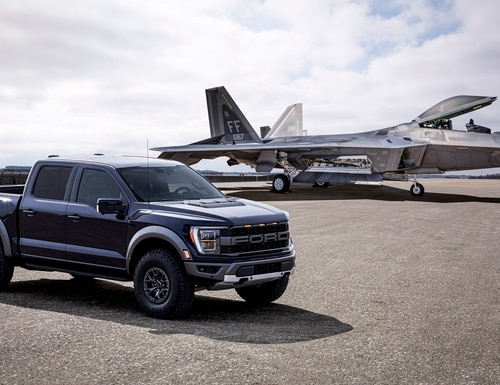 The new Ford F-150 Raptor draws inspiration from its aviation counterpart. (Courtesy of Ford)