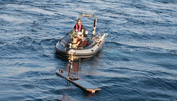 The NATO Centre for Maritime Research and Experimentation tests acoustic networks during last year's Exercise REP. (NATO)