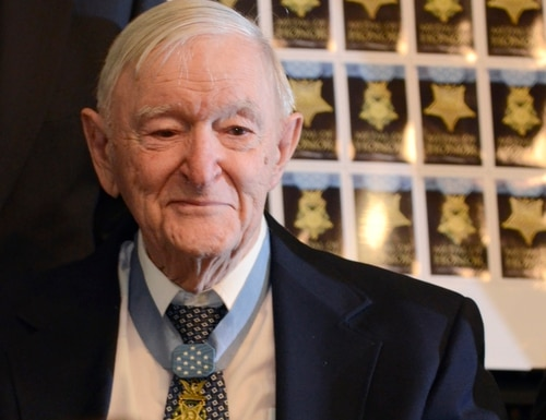 Charles Coolidge passed away at the age of 99. (John Rawlston/Chattanooga Times Free Press via AP)