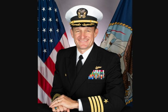 Capt. Brett Crozier was fired Thursday as the skipper of the aircraft carrier Theodore Roosevelt. (Navy)