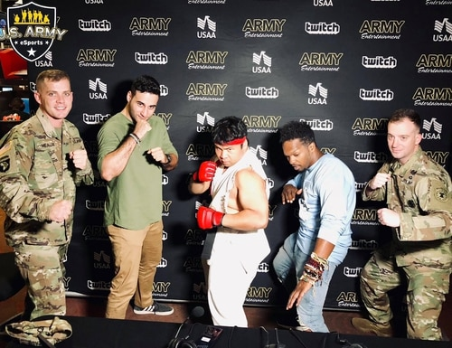 Soldiers attend the PAX West esports tournament in Seattle, Wash. (U.S. Army Esports)