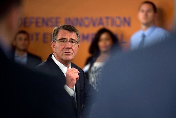 Former Secretary of Defense Ash Carter (shown in 2016) formed Defense Innovation Unit-Experimental as a way to embrace Silicon Valley innovation. (Senior Master Sgt. Adrian Cadiz/Office of the Secretary of Defense)