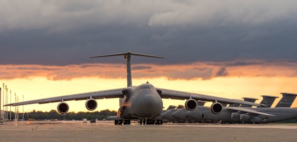 The Delaware city is better known for its transport aircraft, like his C-5M Super Galaxy on June 13 at Dover Air Force Base. (Roland Balik/Air Force)