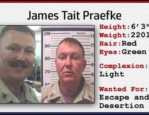 James T. Praefke escaped Navy custody 15 years ago and has been on the run ever since. (Navy)