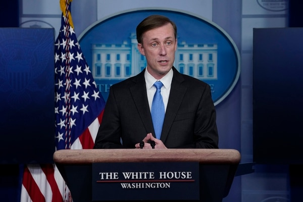National security adviser Jake Sullivan speaks during a press briefing at the White House on Feb. 4, 2021, in Washington. (Evan Vucci/AP)