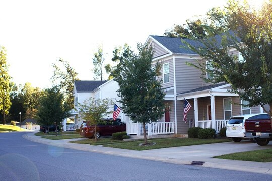 Woodlands housing area at Fort Campbell, Ky., one of 37 Army installations where all 18 tenant rights are now in place. (DoD)