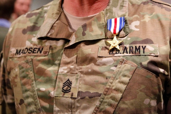 Sgt. 1st Class Madsen was one of four soldiers to receive the Silver Star. (Army)