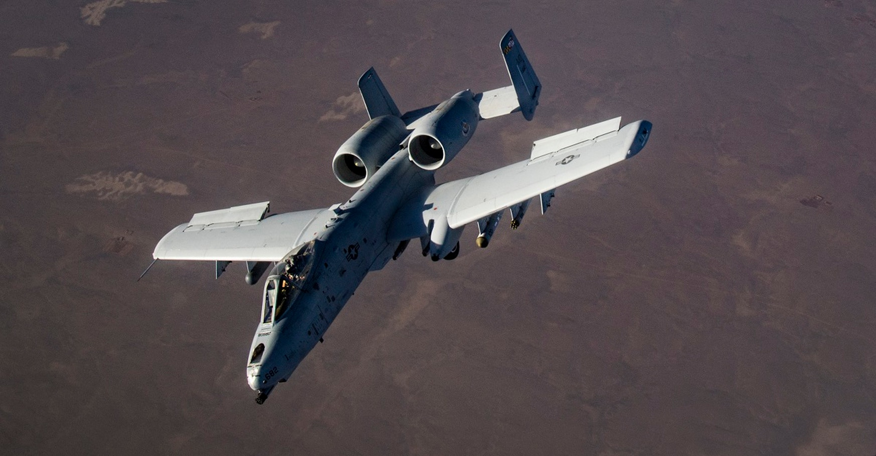 An A-10 Thunderbolt II flies over Afghanistan Jan. 21. The high pace of operations there is likely to continue even as peace talks continue. (Staff Sgt. Clayton Cupit/Air Force)