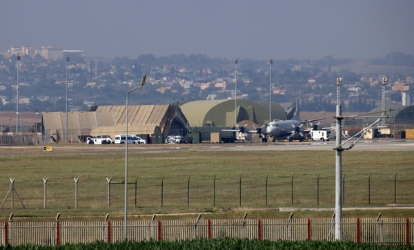 A military aircraft is pictured on the runway at Incirlik Air Base, in the outskirts of the city of Adana, southeastern Turkey, on July 28, 2015. (STR/AFP/Getty Images)
