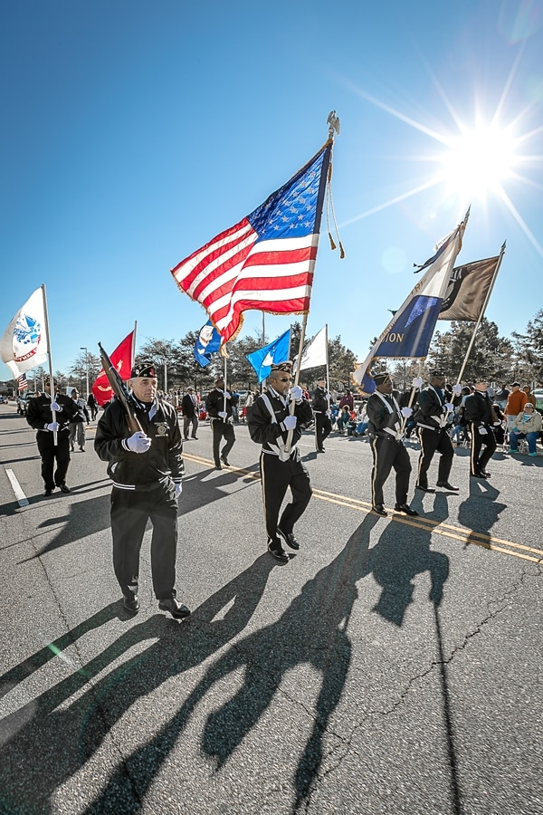 A Veterans Day parade in Virginia Beach, Va. (City of Virginia Beach)