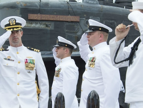 The Navy fired Cmdr. Travis Zettel, the commanding officer of the submarine Bremerton, in August. (Navy)
