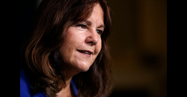 Karen Pence speaks during an interview with The Associated Press at the vice president's residence, the Naval Observatory, in Washington, Monday, Sept. 10, 2018. (Carolyn Kaster/AP)