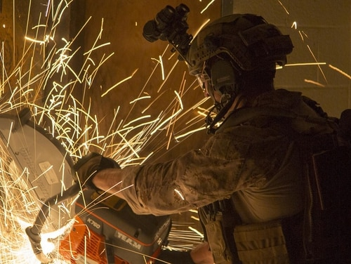 The Corps is looking at a range of headsets to help improve hearing protections and battlefield situational awareness. (Sgt. Scott A. Achtemeier/Marine Corps)