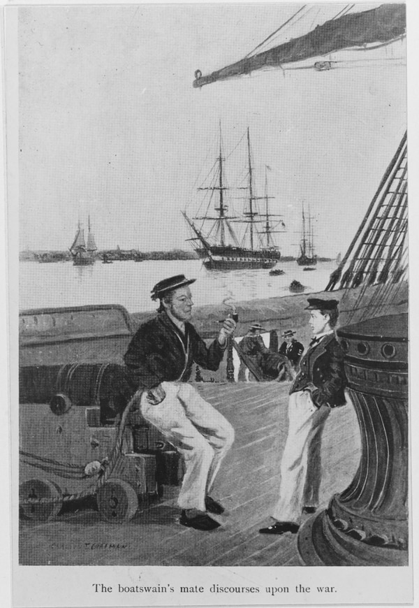 Midshipman David G. Farragut. Farragut became a midshipman at age 9 and served at sea at 10. (From the book