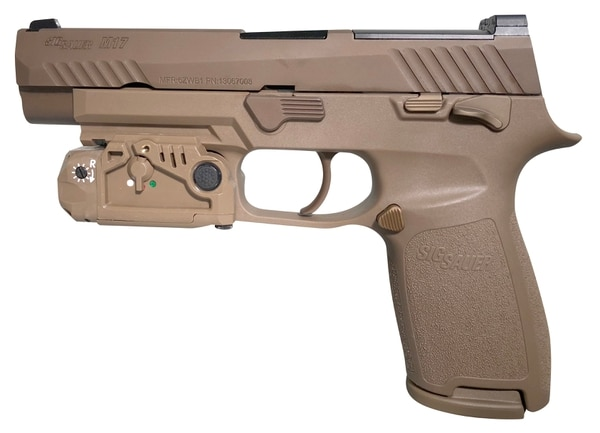 Laser Max Defense recently won the Army contract to build the pistol enhancer laser/light combo for the Army's newest pistol. (Laser Max Defense)