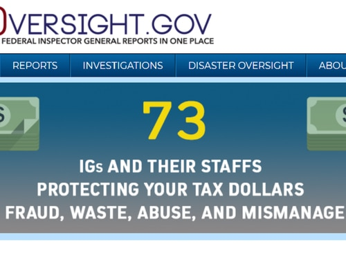 In October 2018, the website that compiles and sorts inspector general reports from across government celebrated its one-year anniversary. (oversight.gov)