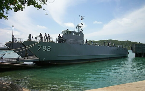 A Royal Thai Navy stern landing ship built by Sea Transport Solutions.  STS photo.