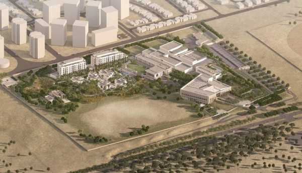 Rendering of the new U.S. consulate compound to be built in Erbil, Kurdistan. (State Department)