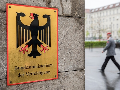 Germany's dpa news agency reported that investigators believe a Russian group known as Snake hacked into Germany's foreign and defense ministries, and that it managed to steal data. (Michael Kappeler/dpa via AP)