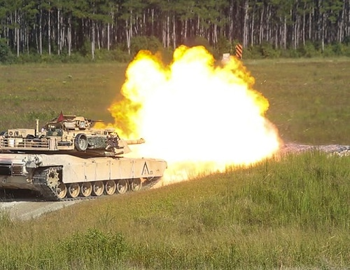 Marine Corps M1A1 Abrams tank gunners will be able to program when main gun rounds explode. ( Lance Cpl. Holly Pernell)