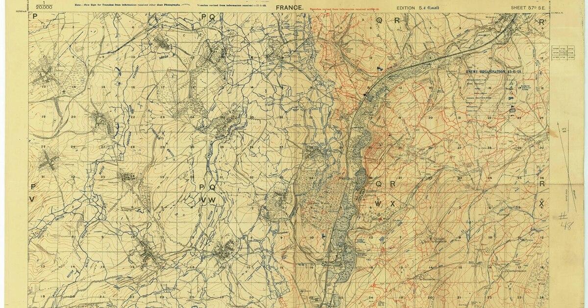 Illinois Archives Repairs Digitizes National Guard World War I Maps - Illinois maps