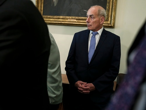 White House Chief of Staff John Kelly attends a Cabinet meeting in the Cabinet Room of the White House on Aug. 16, 2018, in Washington. (Oliver Contreras-Pool/Getty Images)
