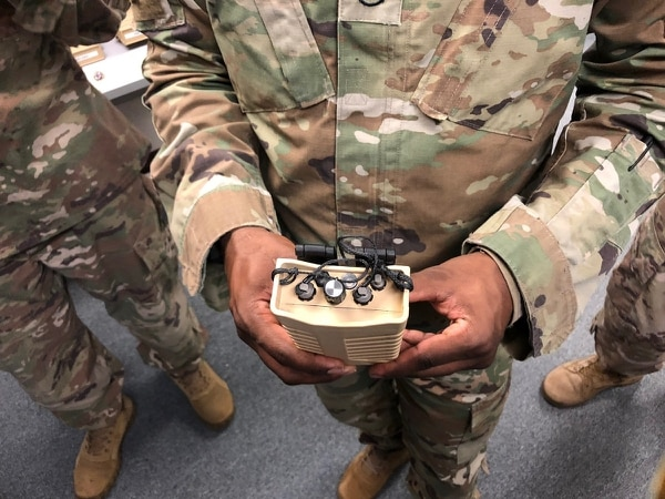 The Army's Rapid Equipping Office continues to upgrade drone and counter-drone technology for soldiers downrange such as the Wingman, a drone detection device that can now distinguish between the drone and its ground controller when detecting signals. (Todd South/Military Times)