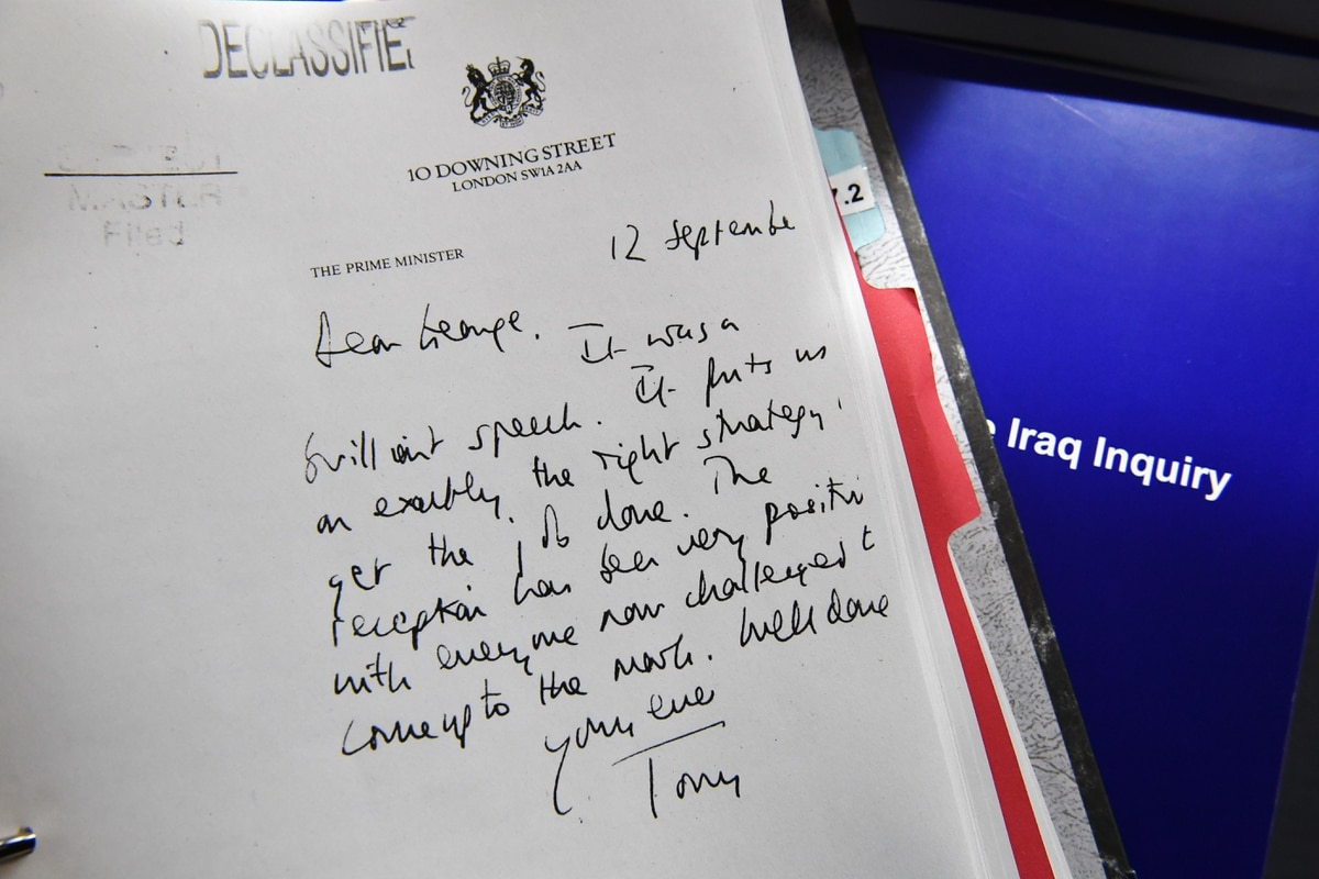 Chilcot Report Blair Made Early Iraq Invasion Commitment To Bush