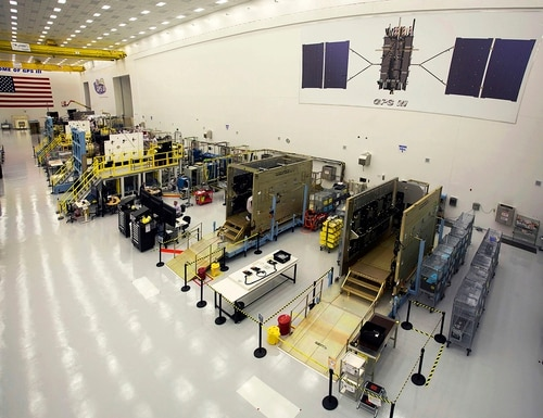 There's concern that use of the L-band spectrum by Ligado Networks will harm GPS. (Pat Corkery/Lockheed Martin via AP)