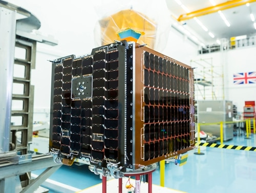 The Carbonite-2 is shown flight-ready at SSTL. (SSTL/Beaucroft Photograpy)