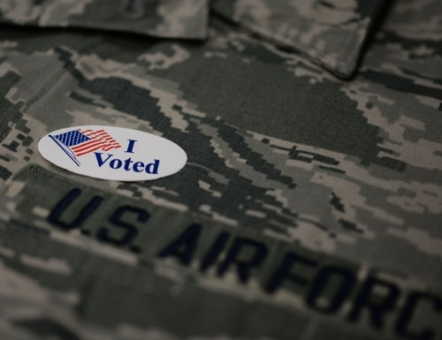 Military and overseas citizens who are legal residents of Georgia can vote by absentee ballot in the Georgia runoff election for two U.S. Senate seats. (Airman 1st Class Zoe M. Wockenfuss/Air Force)