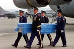 US sends coffins, flags to North Korean border to receive war remains