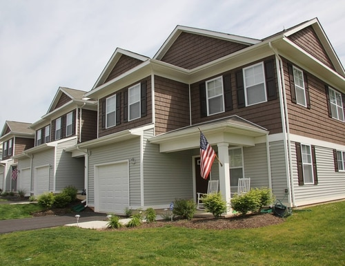 The Army's privatized housing partners plan to build 3,800 new homes over the next five years. Shown here, privatized military housing at Fort Meade, Md. (Army)
