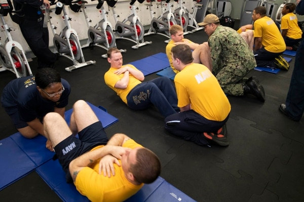 Navy votes down the sit-up for PRT