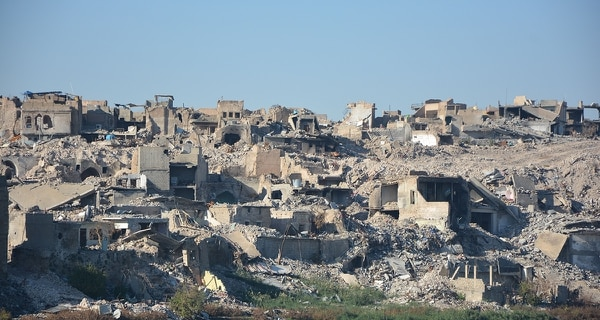 A pictures taken on Nov. 14, 2017, shows a general view of the old city of Mosul in northern Iraq. (AFP/Getty Images)