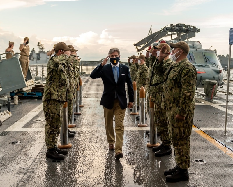 Navy Secretary Kenneth Braithwaite called this week for the establishment of a U.S. 1st Fleet near the intersection of the Indian and Pacific oceans. (Navy)
